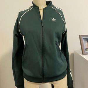 Adidas green athletic jacket